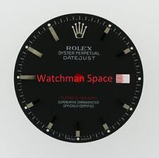 Original Men's Rolex Datejust Turn-O-Graph 116264 Gloss Black Stick Dial SS #A41