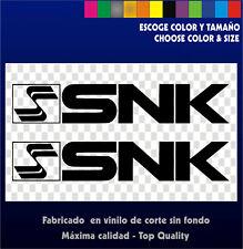 2 x Sticker Vinilo - SNK - Pegatinas Vinyl Aufkleber Arcade Bartop Retro Vintage