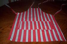 Handmade red,black Paw print boys,girls,med cotton Child apron in