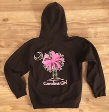 Carolina Girl Brown Camouflage Pink Bow Hoodie Women's Small