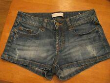 Nordstroms BP Low Rise Distressed Dark Wash Denim Short Shorts Jr. Size 0