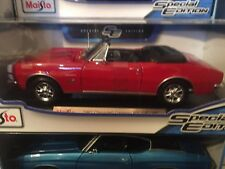 1/18 1967 Chevrolet Camaro Convertible RS / SS 396 American Muscle Car 1:18 RED