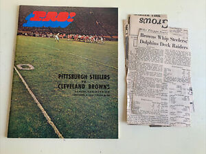 1970 Pittsburgh Steelers Cleveland Browns Football Program Terry Bradshaw