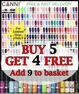 CANNI® UV LED Nail Gel Nail Polish Soak off Varnish Base Top Colour Coat 5ML