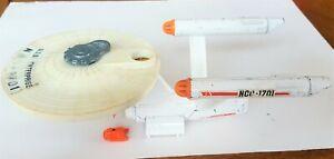Dinky Toys 358 USS Enterprise Star Trek Working + Shuttle Good Condition