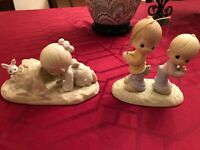 Precious Moment lot - 521485 light in the tunnel & 522139 make you fisher of men