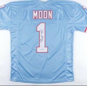 """Warren Moon Signed Jersey Inscribed """"HOF 06"""" (PSA COA)Houston Oilers"""
