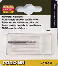 Proxxon 2mm Tungsten carbide milling cutter 28759 / Direct from RDGTools