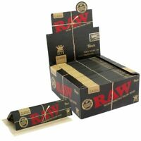 RAW Black King Size Classic Connoisseur Rolling Papers + Tips  Multi Buy listing