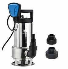 FLUENT POWER 1HP Stainless Submersible Water Pump 110V/60Hz Max Flow 4000GPH
