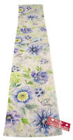 Spring Mix Bluebird Floral Table Runner 13x72 inches