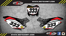 Honda CRF 125 2013 - 2017 model custom number plate stickers / decals STAR STYLE