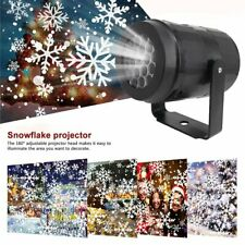 LED Christmas Projector Lights Laser Landscape Xmas Move Fairy Snow Lamps Home