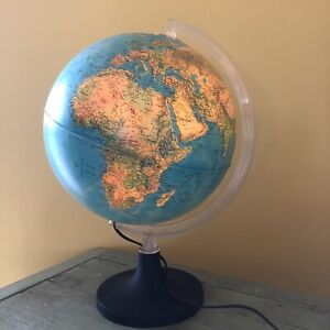 Vintage Rand McNally Physical/Political Lighted Globe 1982 Nice Condition USSR