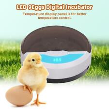 New 9 Egg Chicken Duck Birds Automatic Poultry Incubator with Led Lights