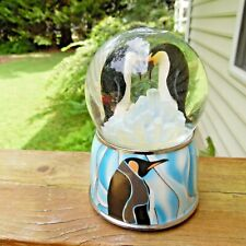 Pride & Wilderness Penguin Music Box Snow Water Globe Dome Twinkle Side By Side