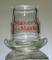 1997 Vintage Makers Mark Bourbon Whiskey Cowboy Hat Shot Glass collectible