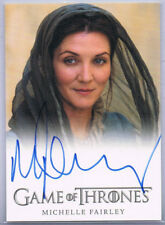 GAME OF THRONES SEASON 2; MICHELLE FAIRLEY AS LADY CATELYN STARK AUTOGRAPH CARD