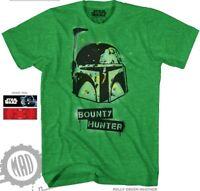 Star Wars Boba Fett Bounty Hunter Mens Green Short Sleeve Graphic Tee Shirt New