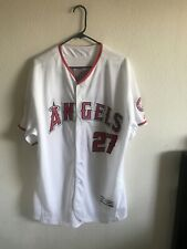 d74ede924fa Los Angeles Angels Mike Trout  27 White Majestic Cool Base Jersey Size 52