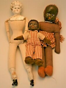 (3) Antique & Vintage Dolls consisting of a 19th Century doll made in Germany,