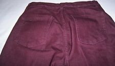 """Fubu Womens Jeans Size 5/6 29x32 The Collection 8.5"""" F/R Burgundy Boot Cut"""