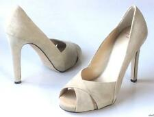 new $595 Giuseppe ZANOTTI beige suede PUMPS heels shoes 40 US 10 - GORGEOUS