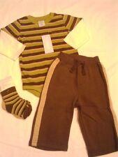 Gymboree NWT Baby Raccoon 3 Pc Lot Bodysuit Pants Socks 6-12-18