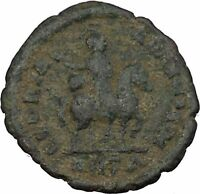 Theodosius I  on horse 392AD Authentic Ancient Roman Coin Very rare i39080