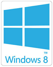 Windows 8 eight logo W8M Finestre di otto adesivo etichetta sticker 2cm x 2.5cm