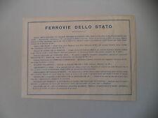 advertising Pubblicità 1941 FS FERROVIE DELLO STATO - TRENI