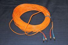 CDT 40-Meters Fiber Optic Cable ST-ST Duplex 2 x 62.5/125um Multimode 131-ft NEW