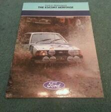 1985 THE FORD ESCORT HERITAGE - RS MOTORSPORT RALLYING RS200 - UK 24pg BROCHURE
