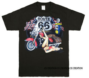 Route 66 & Pineup Girl Graphic T-shirt Tank Top