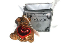Kurt Adler Polonaise Collection HOLLY BEAR Glass Christmas Ornament Komozja