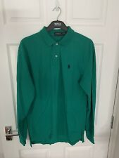 mens ralph lauren polo shirt long sleeve medium
