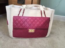 BN Thursday Friday PINK Together Chanel quilted  Print CANVAS SHOPPER CHRISTMAS