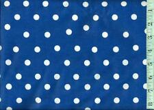 """1 yard FLANNEL Fabri-Quilt White 1/2"""" Scattered Dots on Royal Blue BTY"""