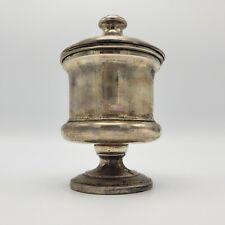 Beautiful Antique RR 800 Silver Lided Jar RR Monogram ~ 9 Ounces