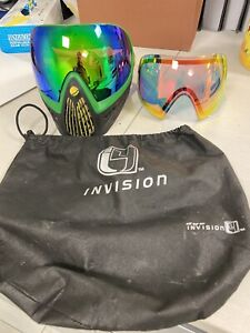 Dye Invision I4 Thermal Anti-Fog Paintball Goggle Pro Mask- Rasta