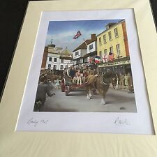 More details for large colourful signed  print of