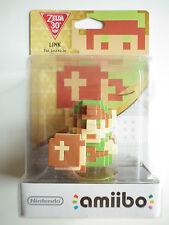 Link Pixel The Legend of Zelda Figurine Interactive Amiibo Wii U