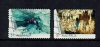 AUSTRALIA DECIMAL  2017 CAVES...USED...SET OF 2 $1.00 STAMPS