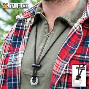 Trailblazer Outdoor Fire Starter Emergency Survival Necklace Camping Ferro Rod
