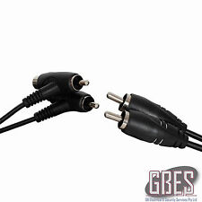 2 x RCA Plugs with Piggyback Sockets to 2 x RCA Plugs – 3 metres WA7091