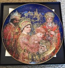 Knowles Edna Hibel Christmas 1986 Plate The Gifts Of The Magi