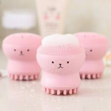 Hot 4color Silicone Face Cleansing Brush Facial Cleanser Octopus Shape