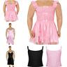 Mens Sissy Lingerie Satin Dress Cross Dresser Maid Costume Nightwear Sleepwear