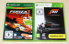 2 GIOCHI XBOX 360 raccolta Forza Motorsport 2 3-fortuna Corse Giochi Corse automobilistiche