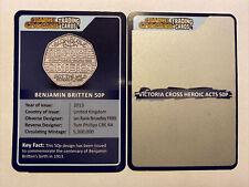 CHANGE CHECKER TRADING CARD 50P VICTORIA CROSS HEROIC ACTS & BENJAMIN BRITTEN.